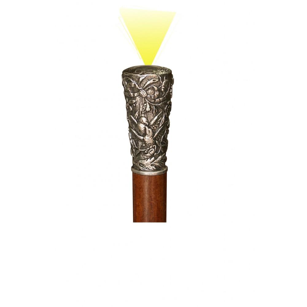 Canne Torche Etain Argenté...